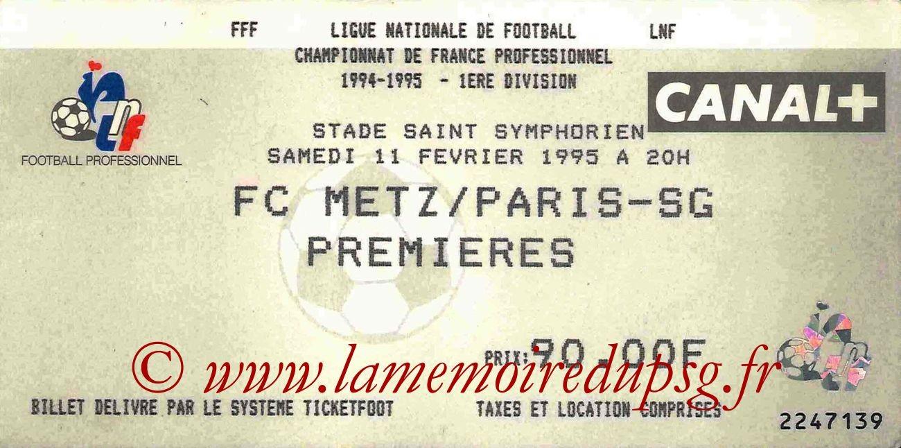 1995-02-11  Metz-PSG (26ème D1)