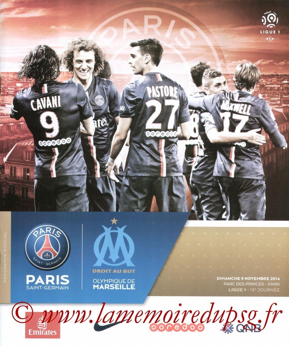 2014-11-09  PSG-Marseille (13ème L1, Programme officiel VIP)