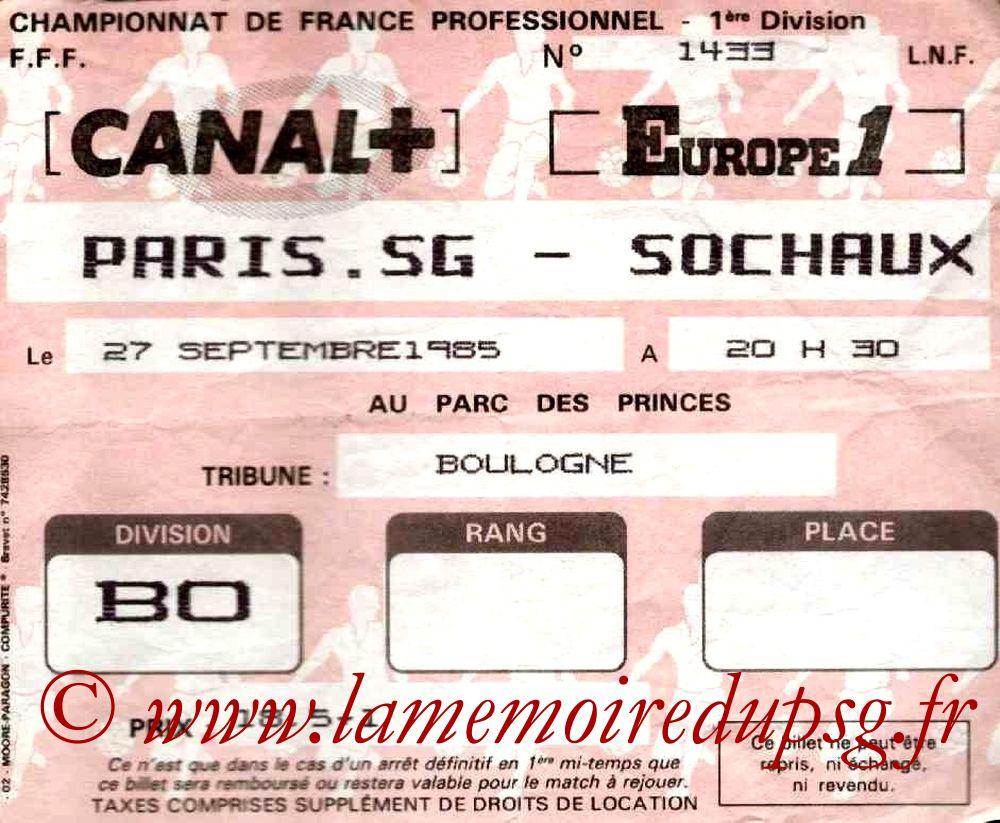 1985-09-27  PSG-Sochaux (13ème D1)
