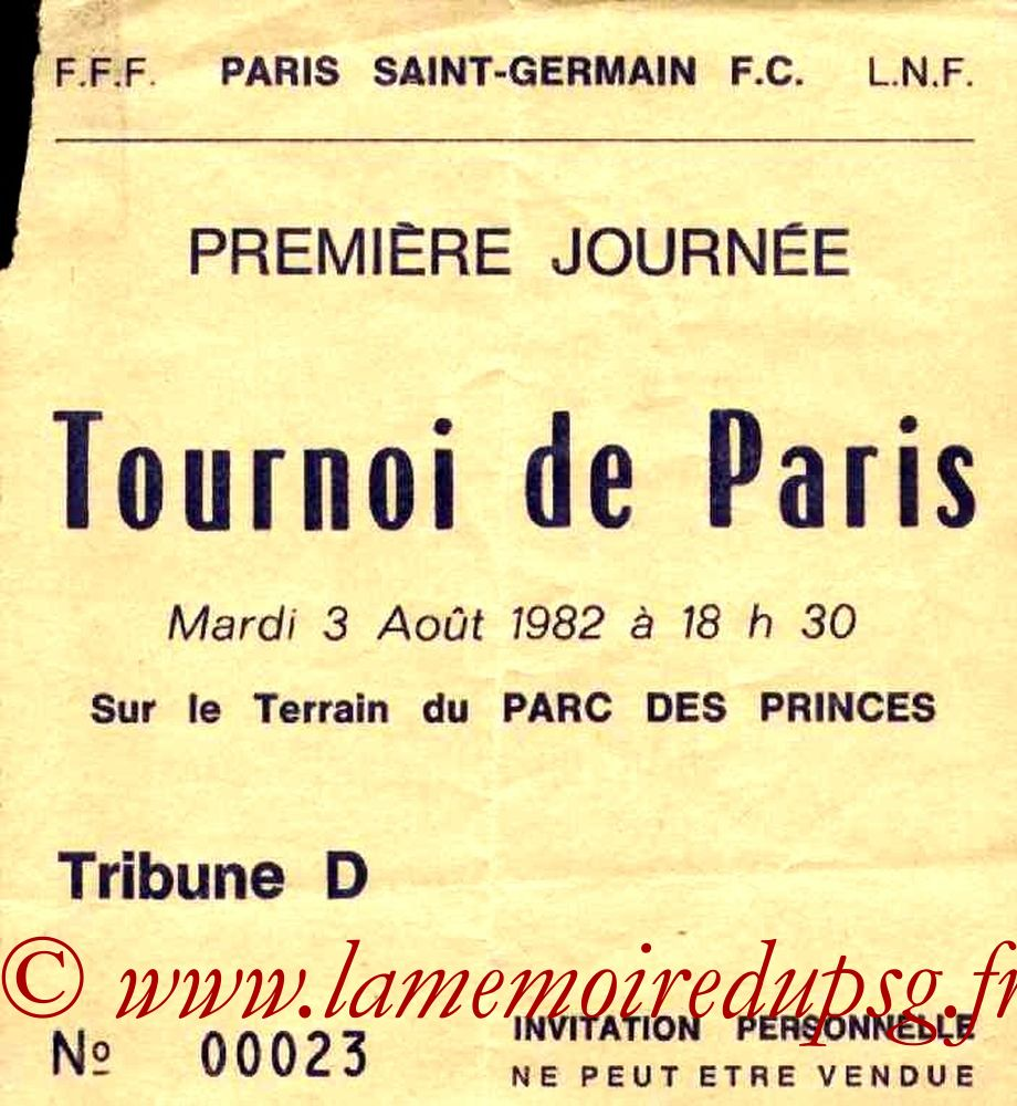 1982-08-03  PSG-Atletico Mineiro (Demi-finale Tournoi de Paris, Invitation)