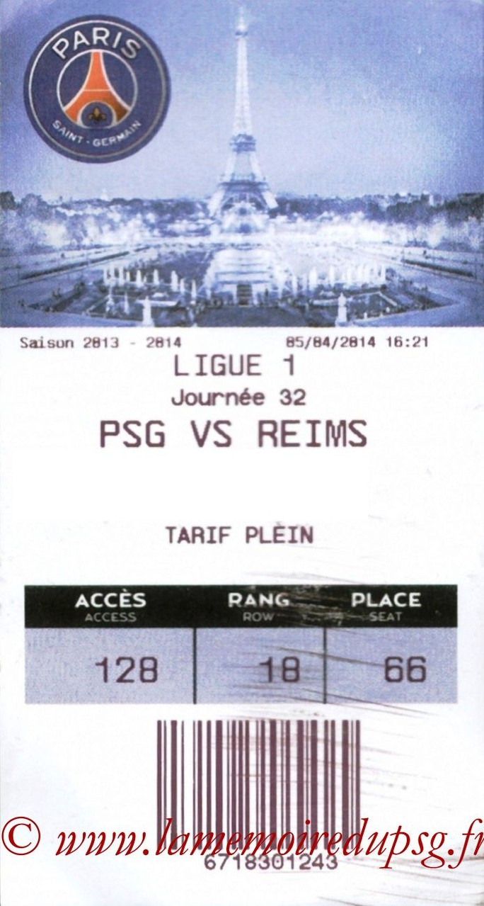 2014-04-05  PSG-Reims (32ème L1, E-ticket)