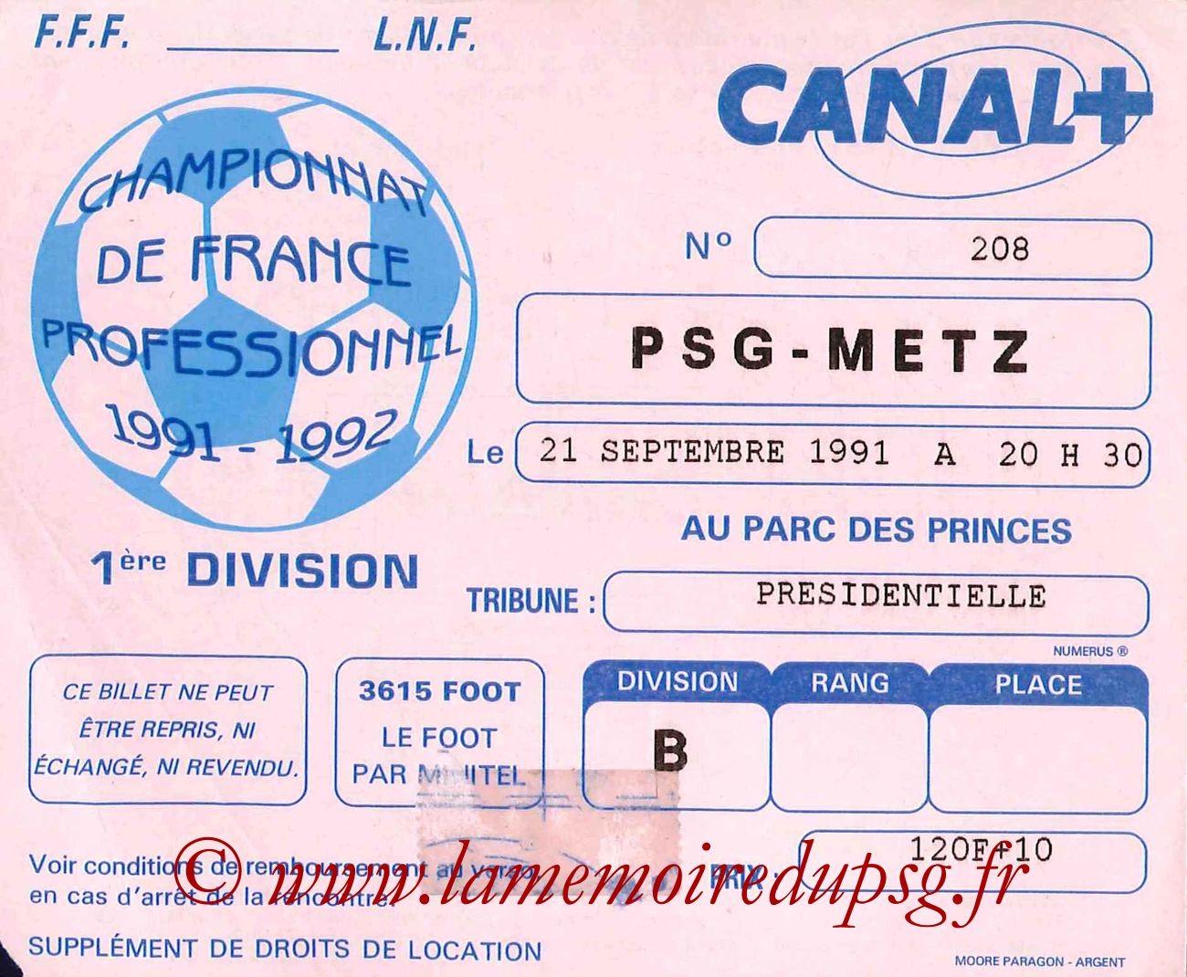1991-09-21  PSG-Metz (11ème D1, bis)