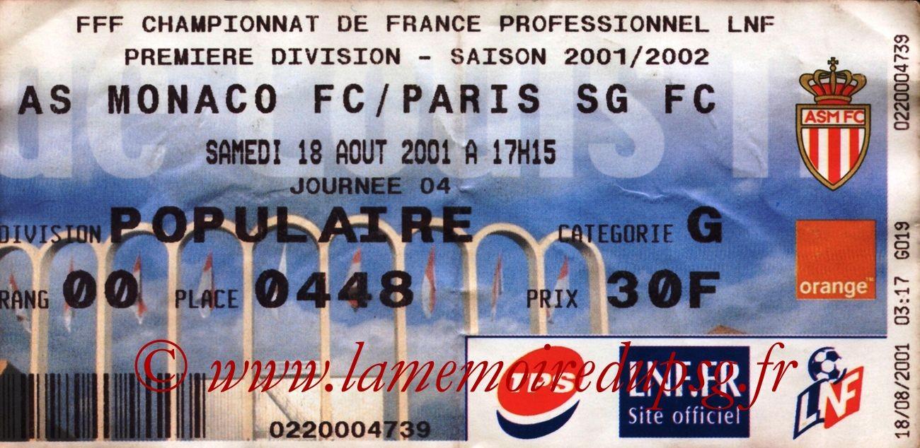 2001-08-18  Monaco-PSG (4ème D1)
