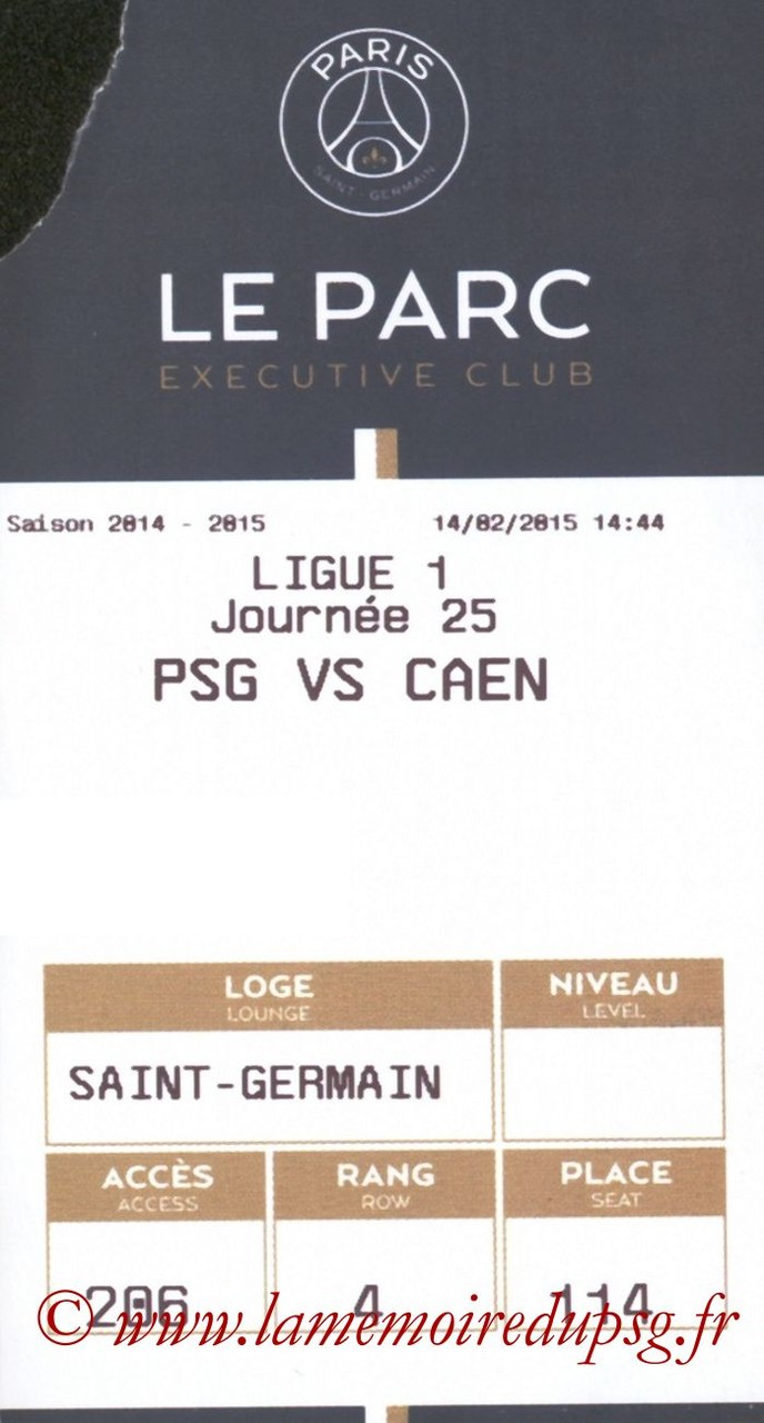 2015-02-14  PSG-Caen (25ème L1, E-ticket Executive club)
