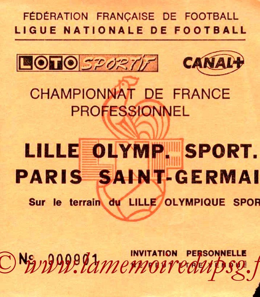 1988-09-03  Lille-PSG (10ème D1, Invitation)