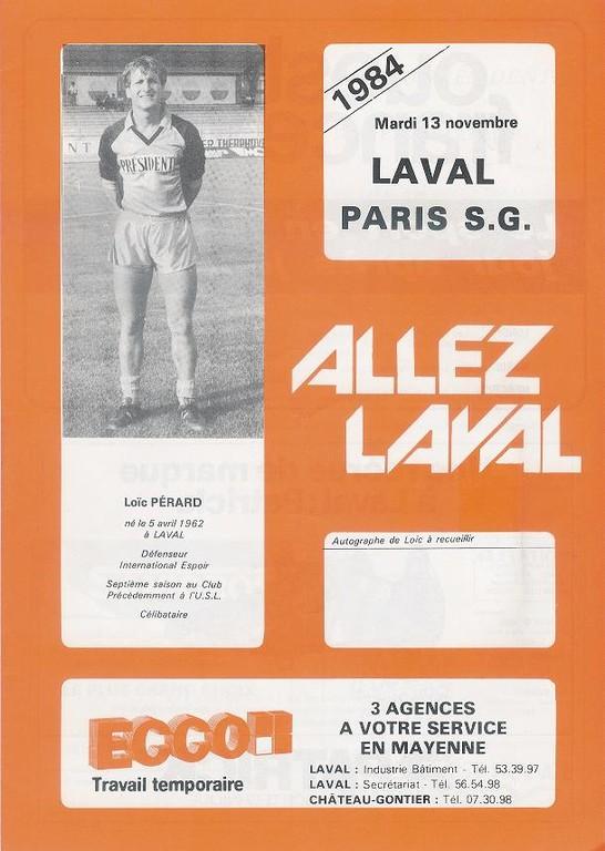 1984-11-13  Laval-PSG (17ème D1, Allez Laval)