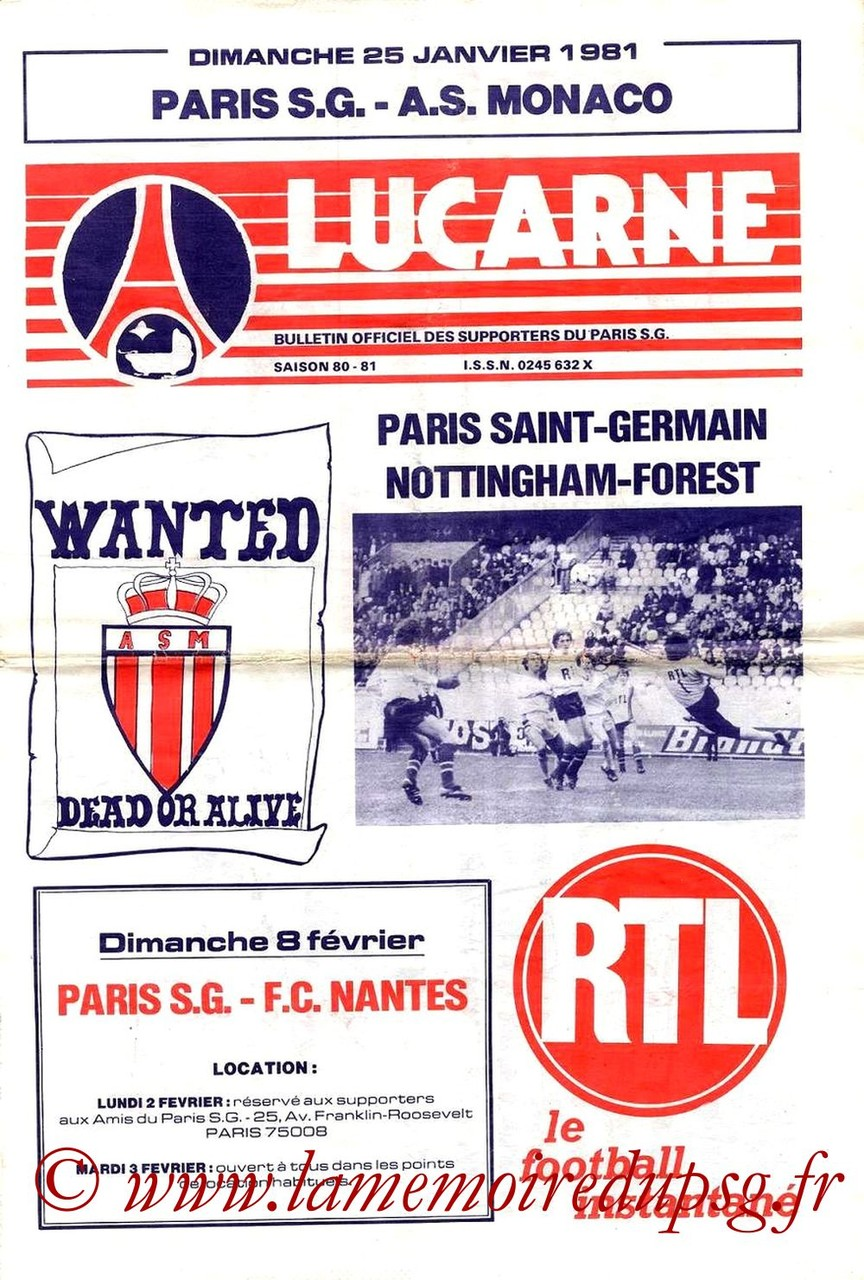 1981-01-25  PSG-Monaco (24ème D1, Lucarne)
