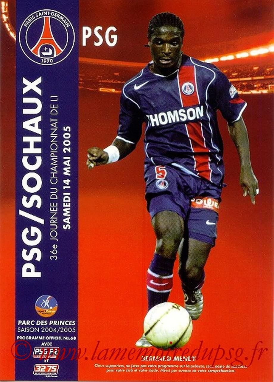 2005-05-14  PSG-Sochaux (36ème L1, Officiel N°68)