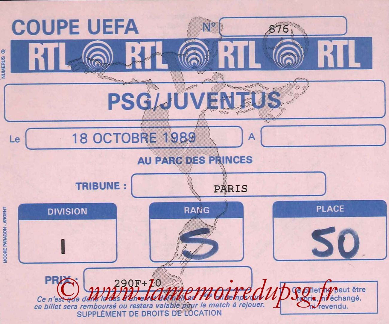 1989-10-18  PSG-Juventus Turin (16ème Finale Aller C3)