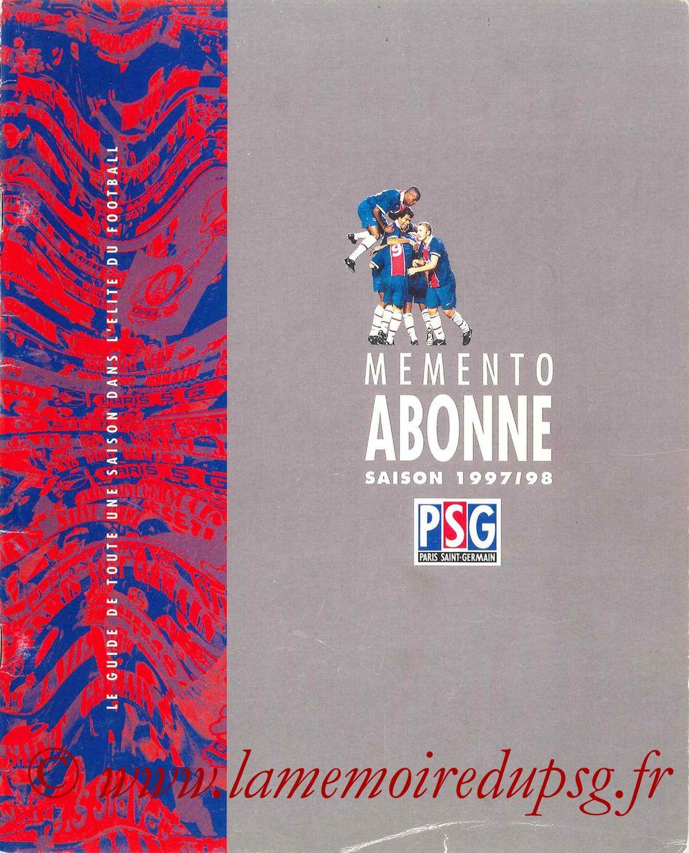 1997-98 - Guide de la Saison PSG - Couverture