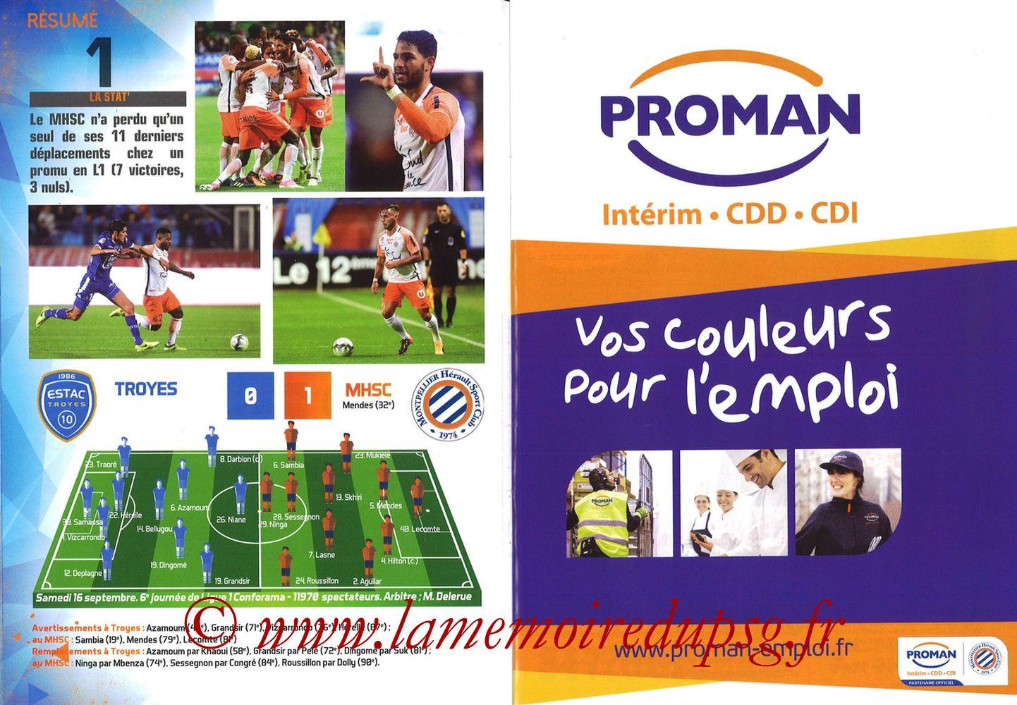 2017-09-23  Montpellier-PSG (7ème L1, L'Echo de la Mosson N°4) - Pages 10 et 11