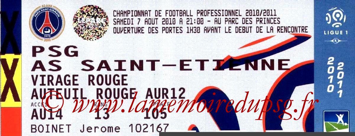 2010-08-07  PSG-Saint Etienne (1ère L1)