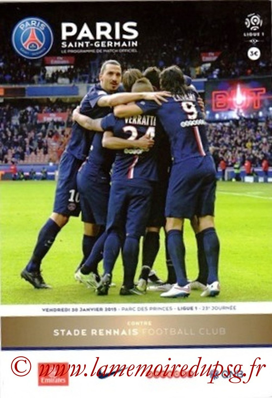2015-01-30  PSG-Rennes (23ème L1, Programme officiel VIP)