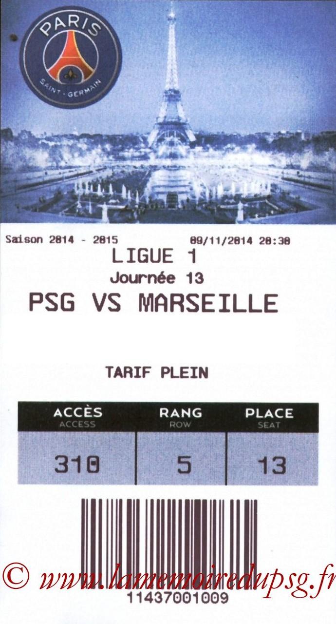 2014-11-09  PSG-Marseille (13ème L1, E-ticket)