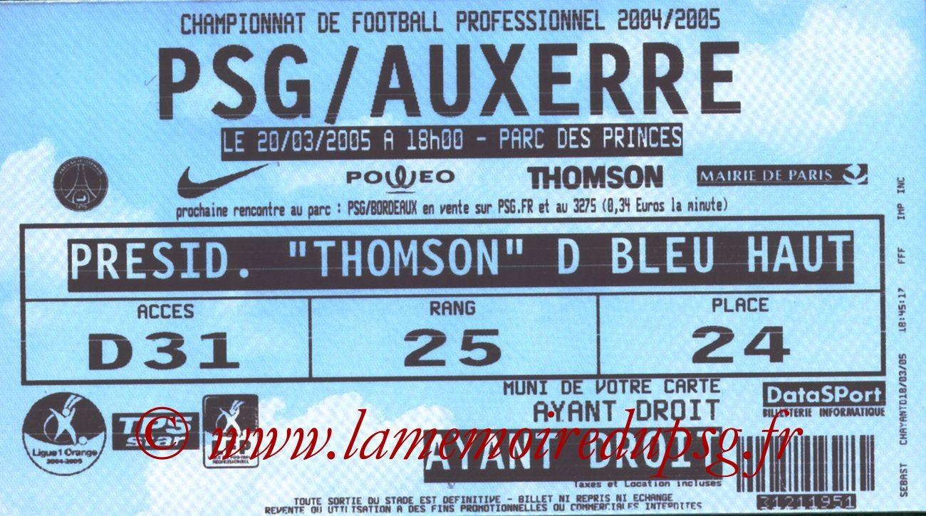 2005-03-20  PSG-Auxerre (30ème L1)