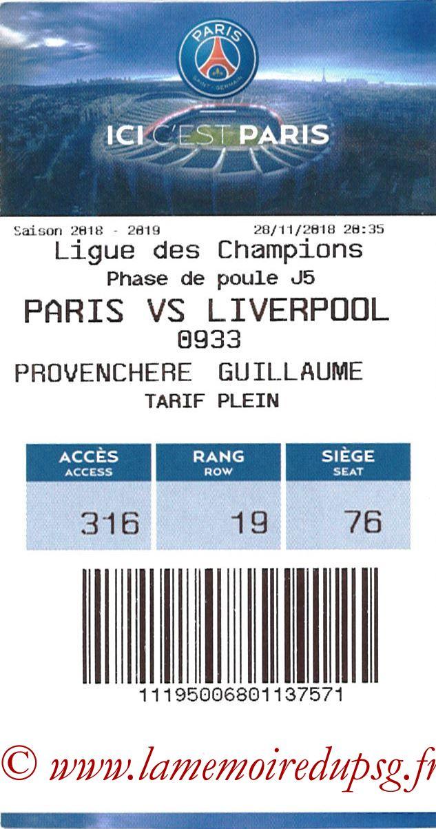 2018-11-28  PSG-Liverpool (5ème C1, E-ticket)