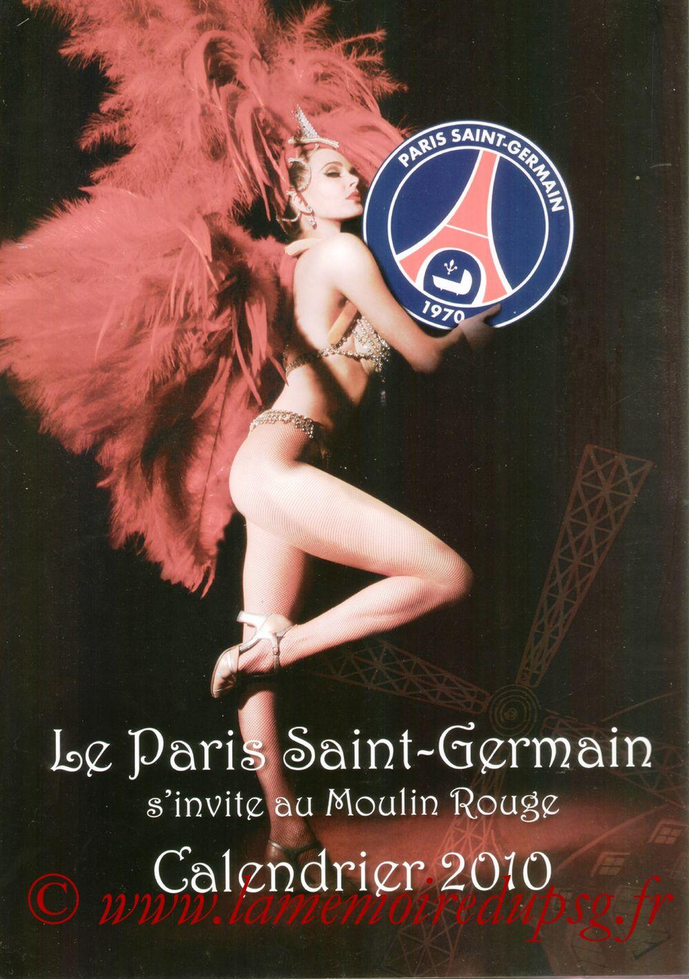 Calendrier PSG 2010 - Couverture
