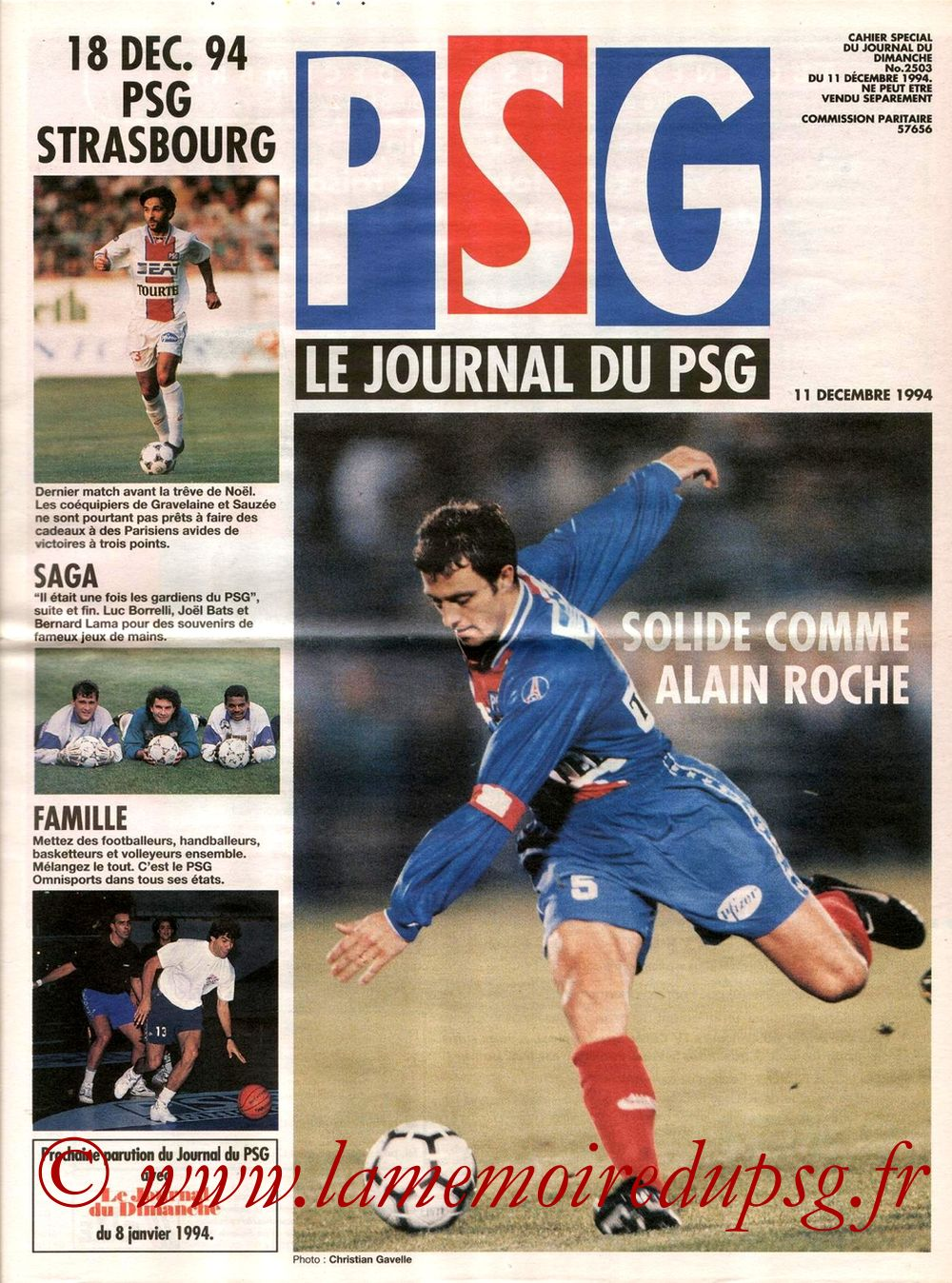 1994-12-18  PSG-Strasbourg (21ème D1, Le journal du PSG N°9)
