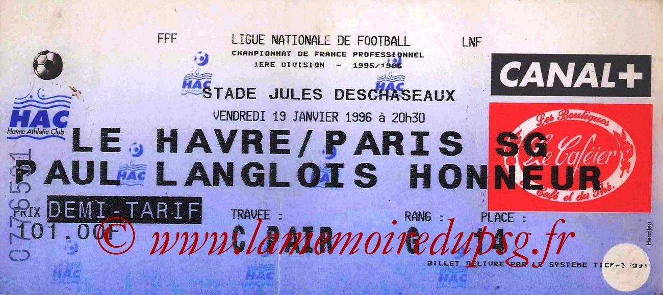 1996-01-19  Le Havre-PSG (24ème D1)