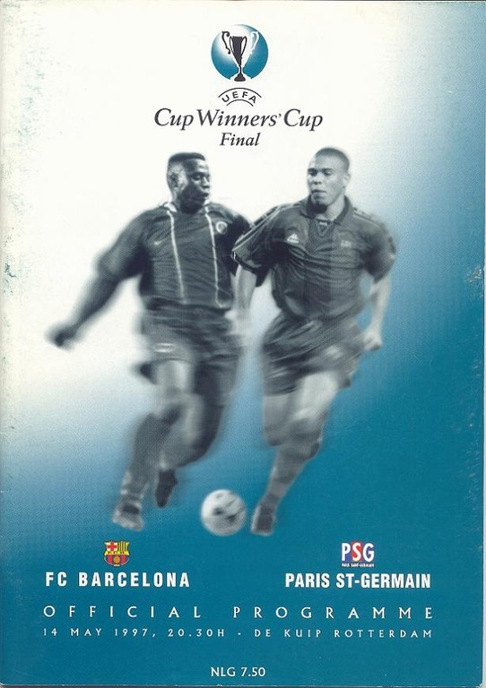 1997-05-14  PSG-Barcelone (Finale C2 à Rotterdam, Programme Officiel UEFA)