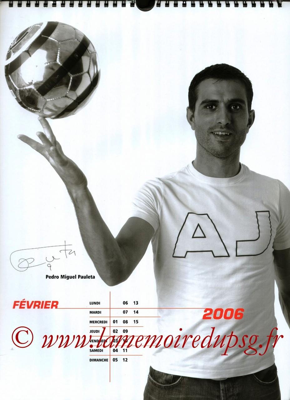 Calendrier PSG 2006 - Page 03 - Pedro Miguel PAULETA