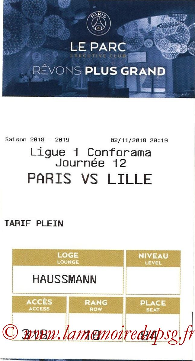 2018-11-02  PSG-Lille (12ème L1, E-ticket Executive club)
