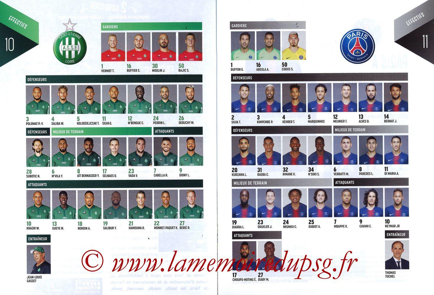 2019-02-17  Saint Etienne-PSG (25ème L1, Maillot Vert N° 13) - Pages 10 et 11