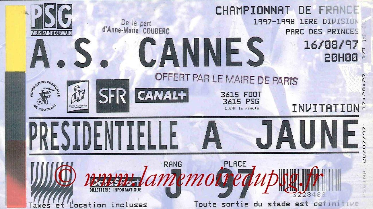 1997-08-16  PSG-Cannes (3ème D1)