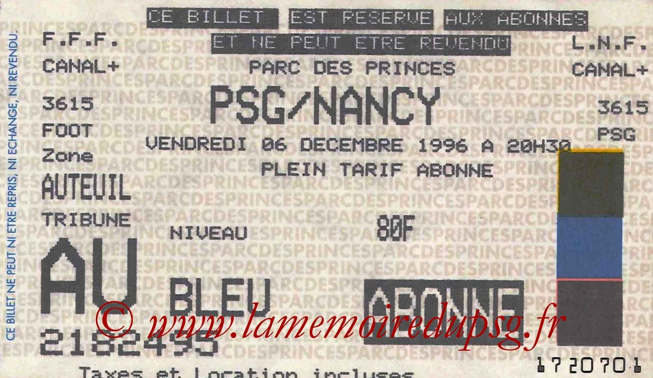 1996-12-06  PSG-Nancy (21ème D1)