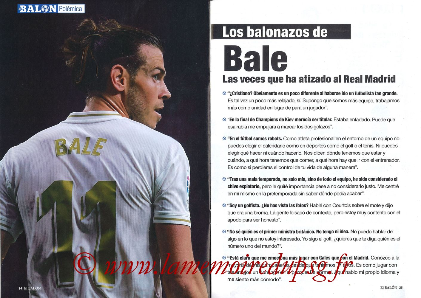 2019-11-26  Real Madrid-PSG (5ème C1, El Balon in the Game N°74) - Pages 24 et 25