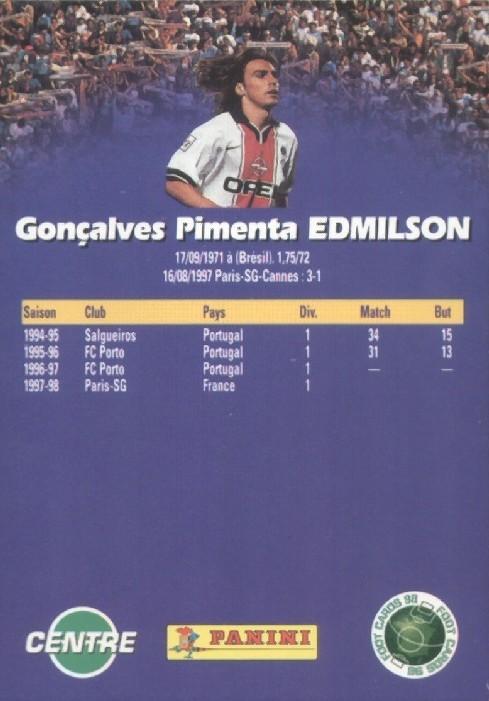 N° 135 - Goncalves EDMILSON (Verso)