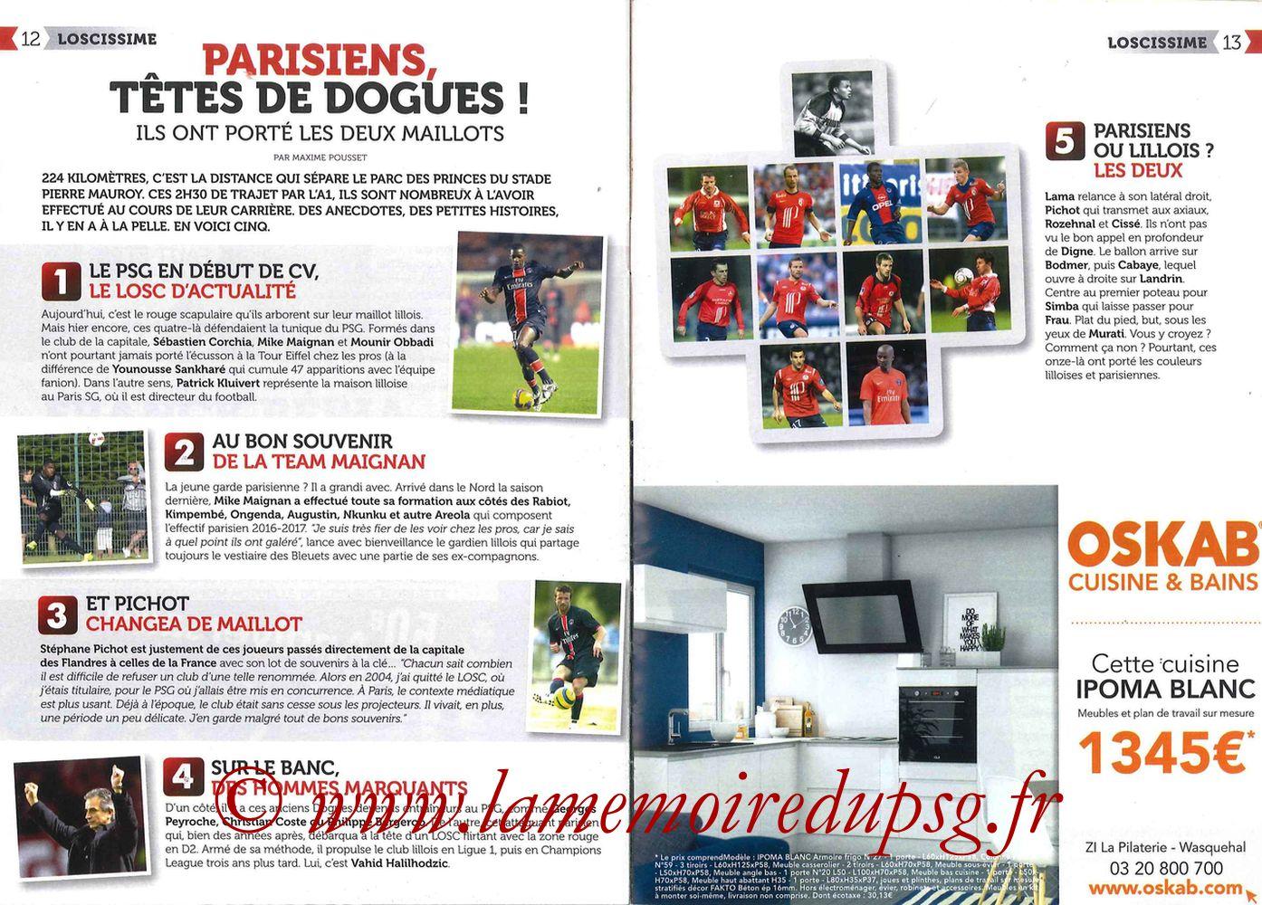 2016-10-28  Lille-PSG (11ème L1, Réservoir Dogues N°57) - Pages 12 et 13