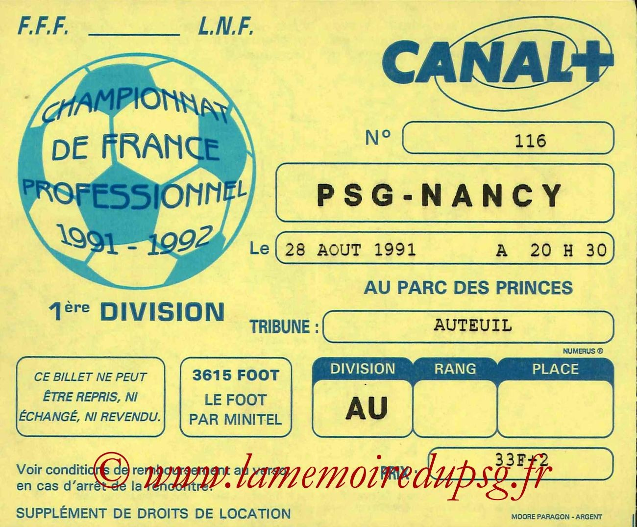 1991-08-28  PSG-Nancy (8ème D1)