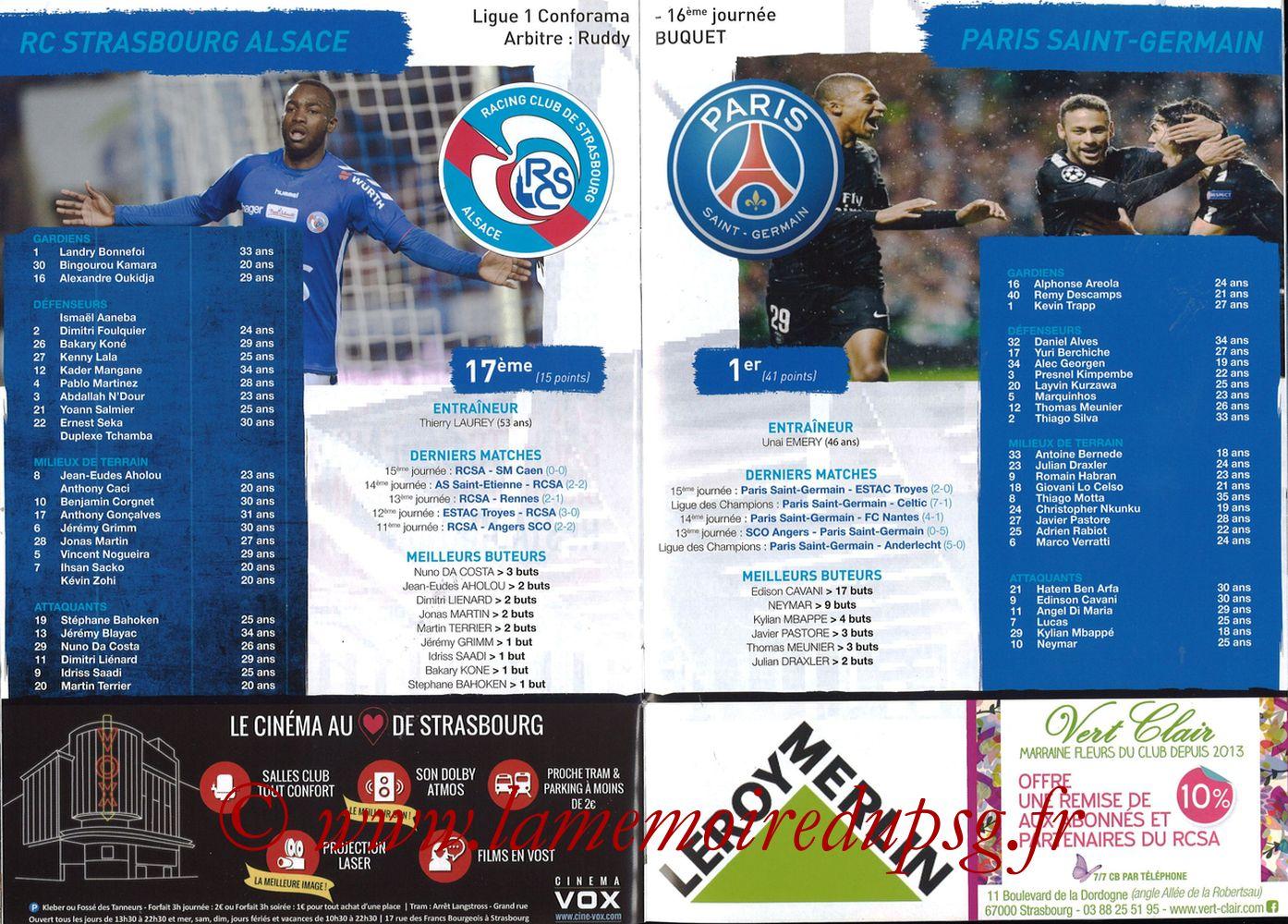 2017-12-02  Strasbourg-PSG (16ème L1, Passion Racing N°7) - Pages 16 et 17