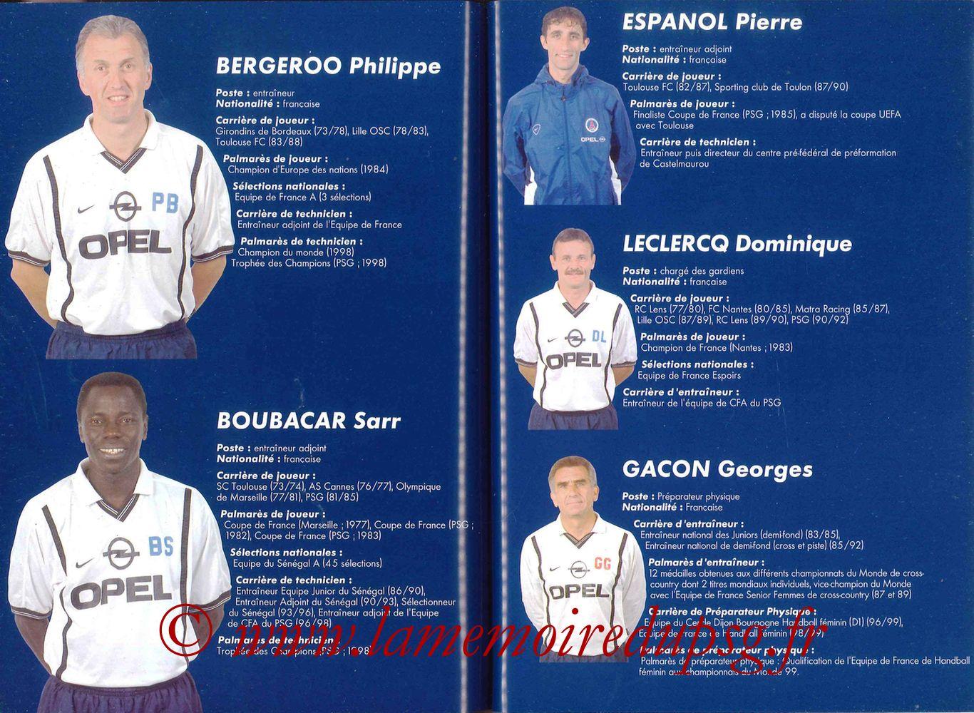 2000-01 - Guide de la Saison PSG - Pages 62 et 63