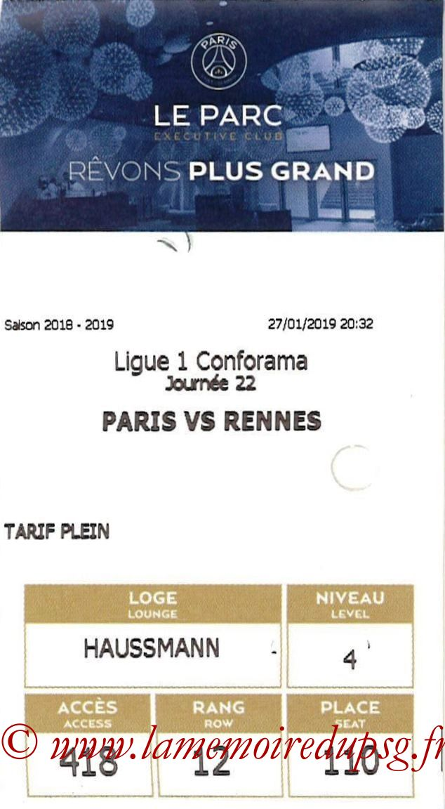 2019-01-27  PSG-Rennes (22ème L1, E-ticket Executive club)