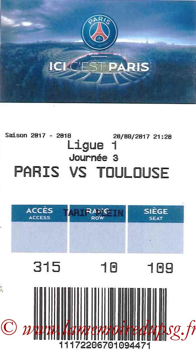 2017-08-20  PSG-Toulouse (3ème L1, E-ticket2)