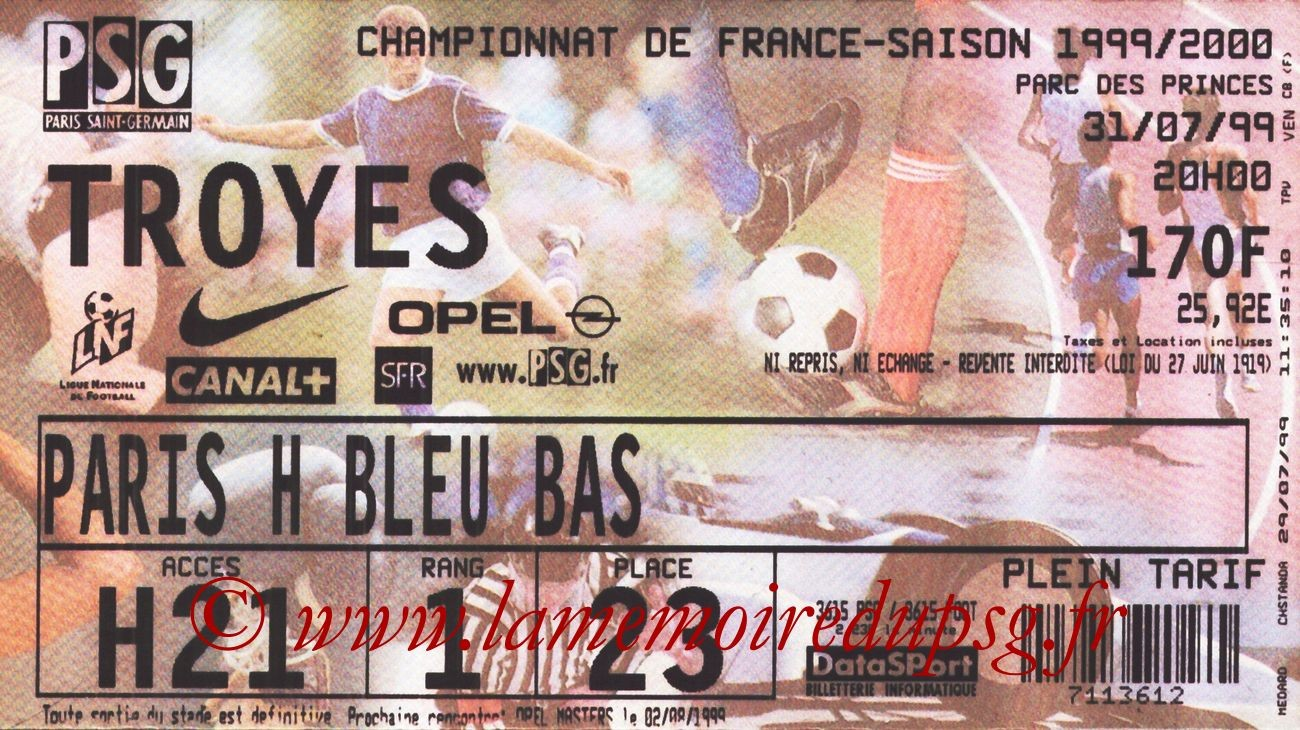 1999-07-31  PSG-Troyes (1ère D1)