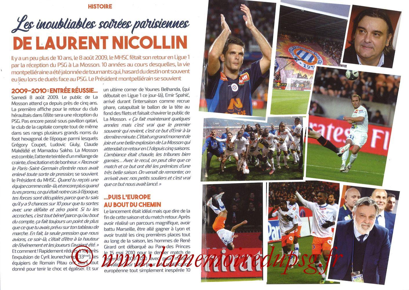 2019-12-07  Montpellier-PSG (17ème L1, L'Echo de la Mosson N°9) - Pages 16 et 17