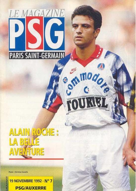1992-11-20  PSG-Auxerre (15ème D1, Le Magazine PSG N°7)