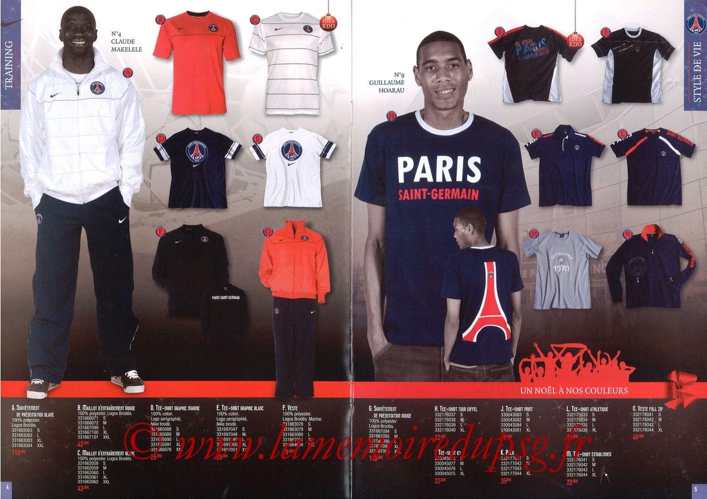 Catalogue PSG - 2008-09 - Noêl - Pages 04 et 05