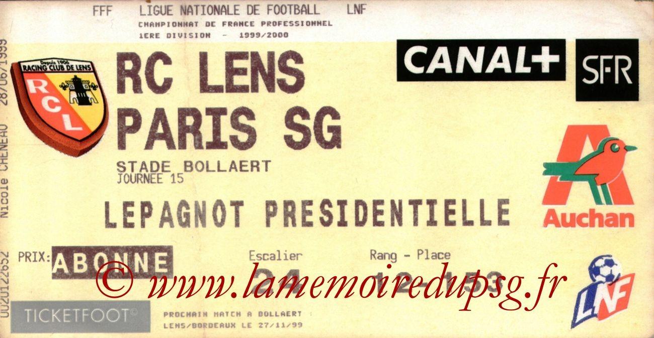 1999-11-10  Lens-PSG (15ème D1)