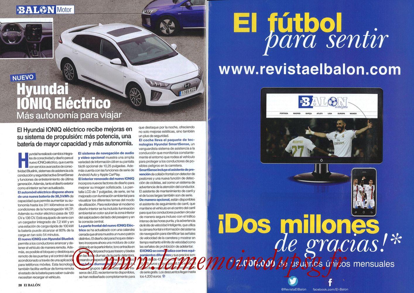 2019-11-26  Real Madrid-PSG (5ème C1, El Balon in the Game N°74) - Pages 28 et 29