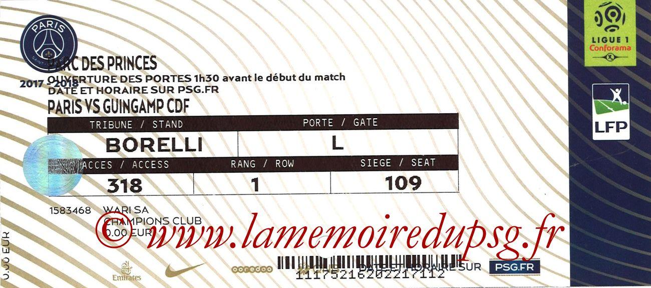 2018-01-24  PSG-Guingamp (16ème CF, Champions Club)