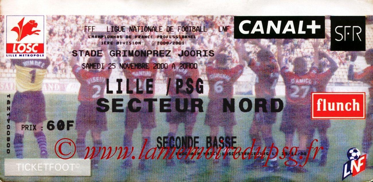 2000-12-13  Lille-PSG (Match en retard de la 17ème D1)