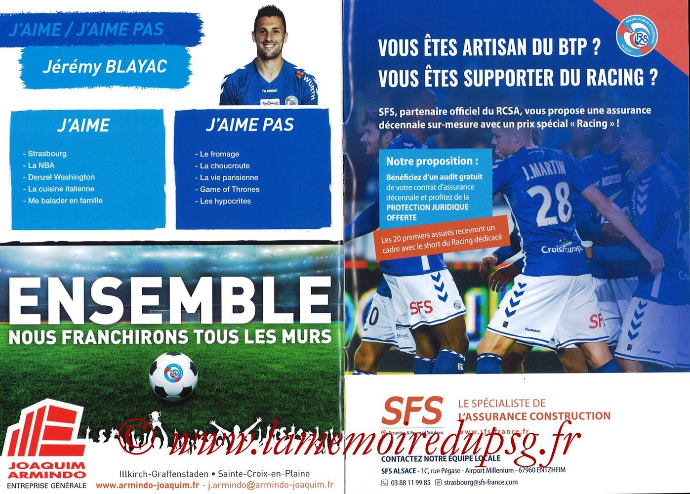 2017-12-02  Strasbourg-PSG (16ème L1, Passion Racing N°7) - Pages 22 et 23