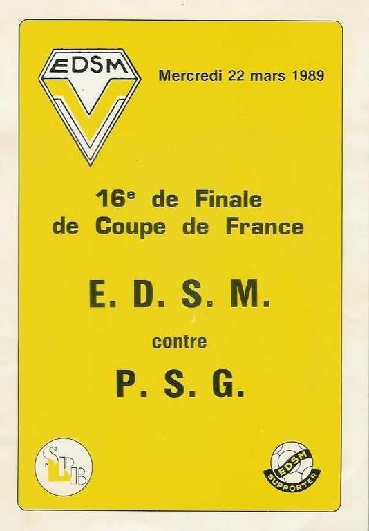 1989-03-22  Montluçon-PSG (16ème Finale Aller CF, Programme officiel bis)