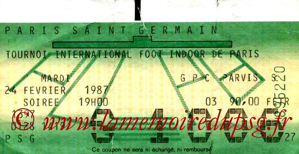 1987-02-24  PSG-Marseille et PSG-FC Porto (4ème Foot indoor à Bercy, 2ème journée)