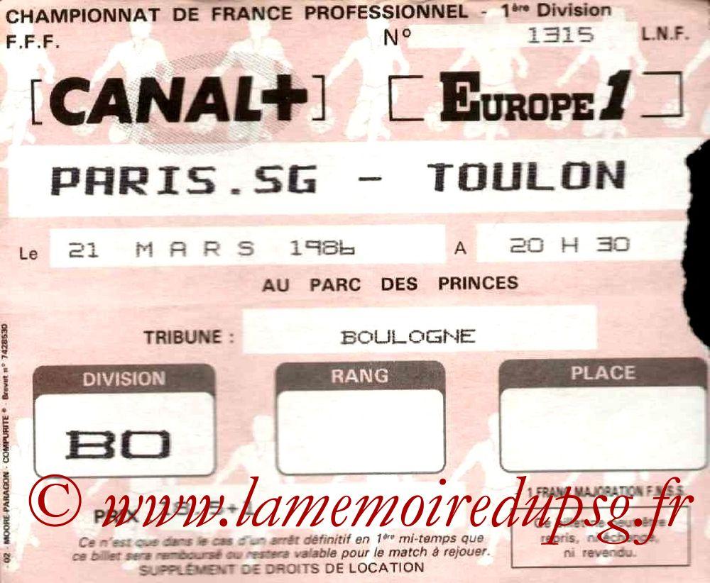 1986-03-21  PSG-Toulon (34ème D1)
