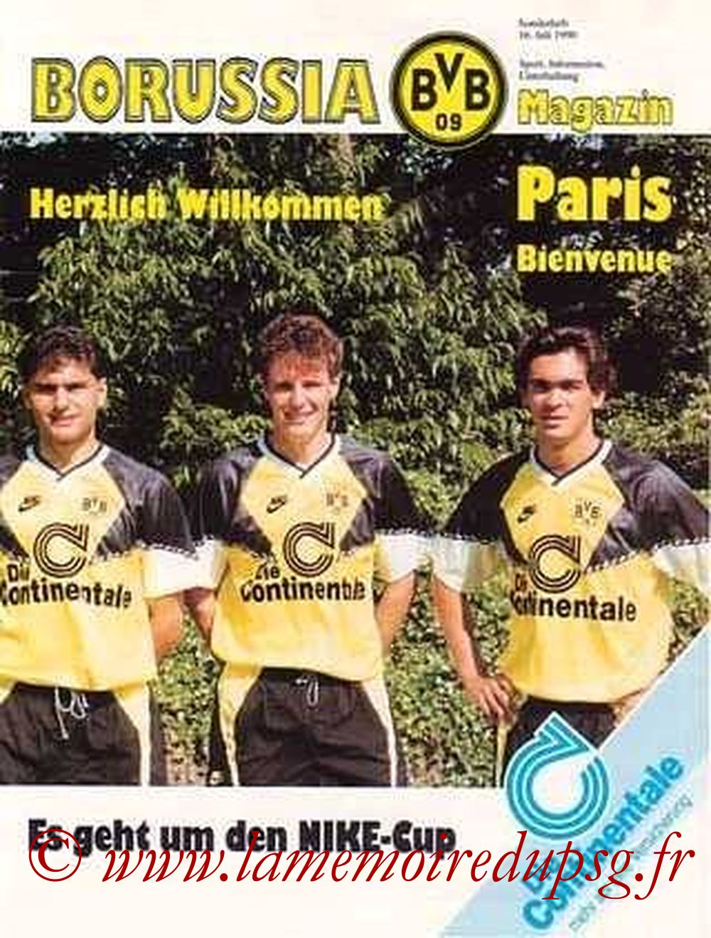 1990-07-16  Borussia Dortmund-PSG (Nike cup à Dortmund, Borussia Magazin)